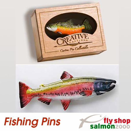 Chinook Salmon Coho - Fishing Pin F023