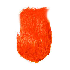 Deer Belly Hair Dyed over white orange