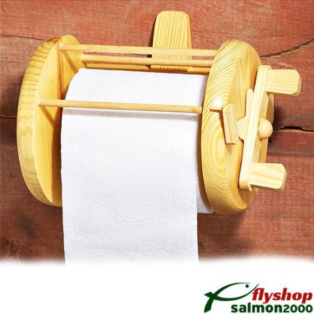 Fishing toilet paper holder