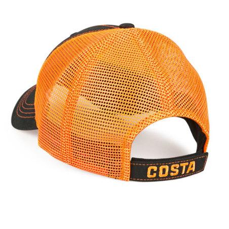 Neon Trucker Black Twill Costa del Mar orange