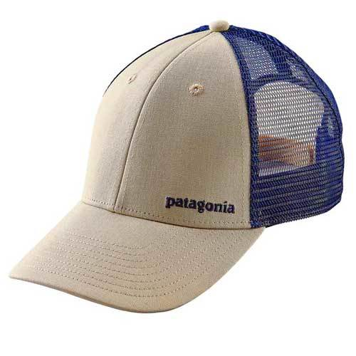 Patagonia Small Text Logo LoPro Trucker Hat - pelican