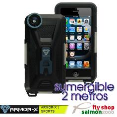 Funda sumergible ARMOR-X  CX-A32-BK-GY  iPhone 5 con lente ojo de pez 170º