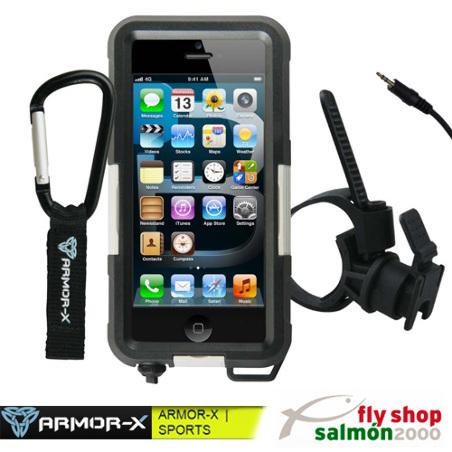 Funda protector sumergible ARMOR-X  MX-AP1X22-BK  iPhone 5 + correa mosquetón