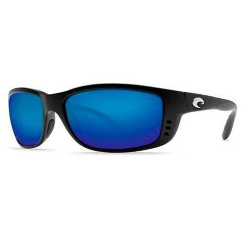 Costa Zane Matte Black 580G blue mirror