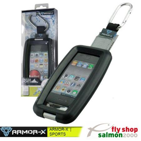 Carcasa iPhone impermeable ARMOR-X MX-110 con mosquetón para deportes outdoor