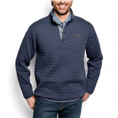 Quilted Snap Orvis Sweatshirt