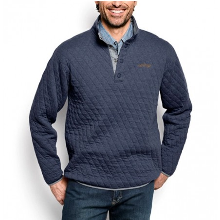 Quilted Snap Orvis Sweatshirt