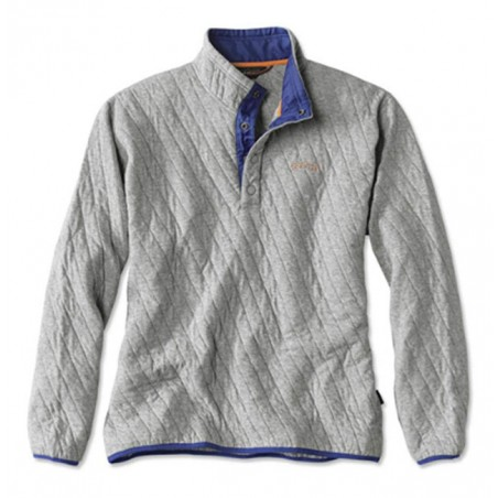 Trout Bum Quilted Snap Orvis Sweatshirt